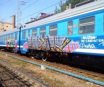 Транспортная полиция Крыма задержала группу молодых людей, расписавших электрички граффити
