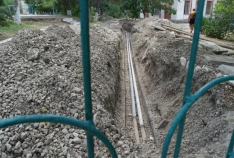 Новость. Город: Феодосия - В школе поселка Орджоникидзе проводят ремонт теплотрассы