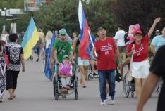 Новость. Город: Феодосия - Более 500 человек приняли участие в акции в поддержку российских паралимпийцев, которая состоялась в Феодосии