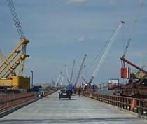 Строители приступили к монтажу арок судоходного пролёта автомобильной части Крымского моста