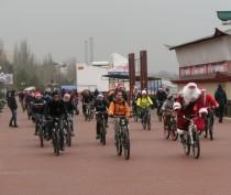 Акция Дед Мороз на велосипеде