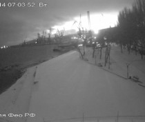 Феодосия, утро, снег...