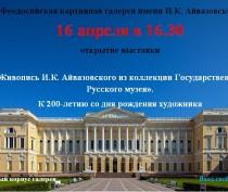 Новости Феодосии: Работы И.Айвазовского вернулись в Феодосию