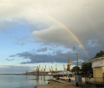 Новости Феодосии: Сегодняшняя радуга над морем и Феодосией