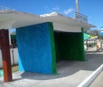 Новости Феодосии: Предприниматели отремонтировали остановки в селе под Феодосией