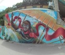 Новости Феодосии: Еще одна масштабная художественная роспись украсила курортный Коктебель