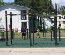 Новости Феодосии: Открытие спортплощадки в Феодосии