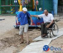 Новости Феодосии: Как инвалиду добраться к морю и не перевернуться