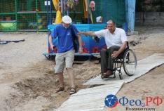 Новость. Город: Феодосия - Как инвалиду добраться к морю и не перевернуться