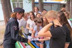 Новость. Город: Феодосия - В феодосийских лагерях проходят «Уроки безопасности»