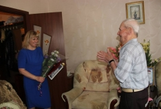 Новость. Город: Феодосия - Феодосиец Михаил Болтянский отметил 100-летний юбилей