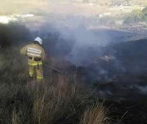 Под Кара-Дагом тушили крупный пожар