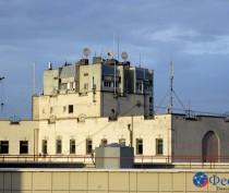 Крыши и дома в центре Феодосии
