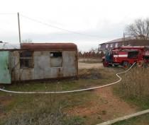 Под Феодосией горел строительный вагончик