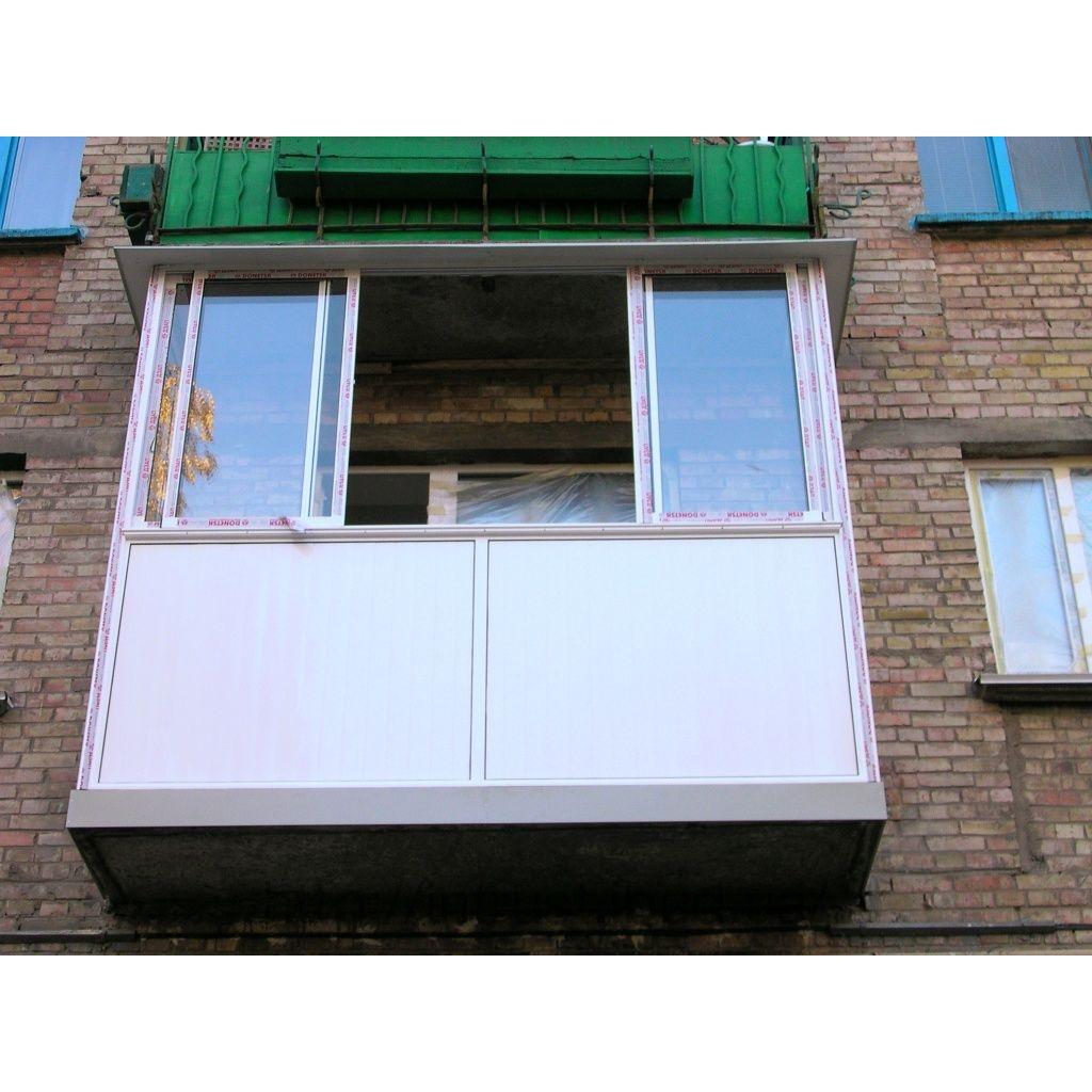Балкон от пола раздвижной алюминиевый