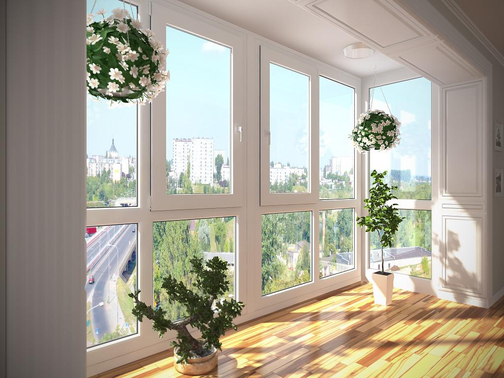 Балкон от пола прозрачный